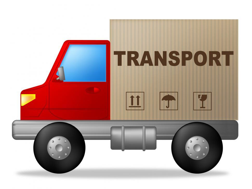 Download Free Stock HD Photo of Transport Truck Represents Sign Lorry And Delivery Online
