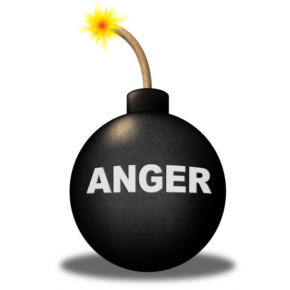Download Free Stock HD Photo of Anger Warning Shows Dangerous Unhappy And Bomb Online