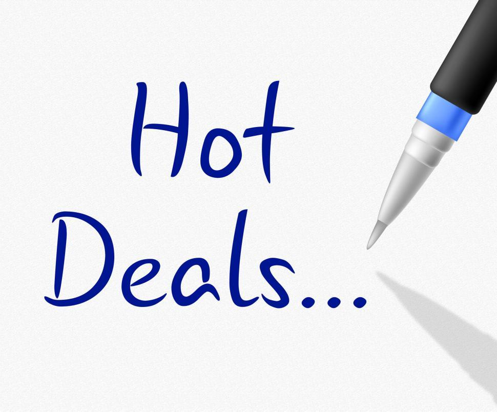 Download Free Stock HD Photo of Hot Deals Shows Clearance Reduction And Save Online