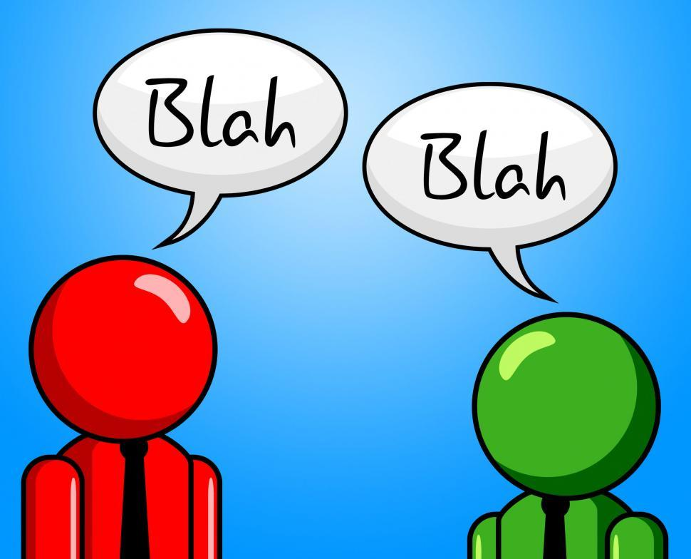 Download Free Stock HD Photo of Blah Conversation Represents Chit Chat And Confab Online