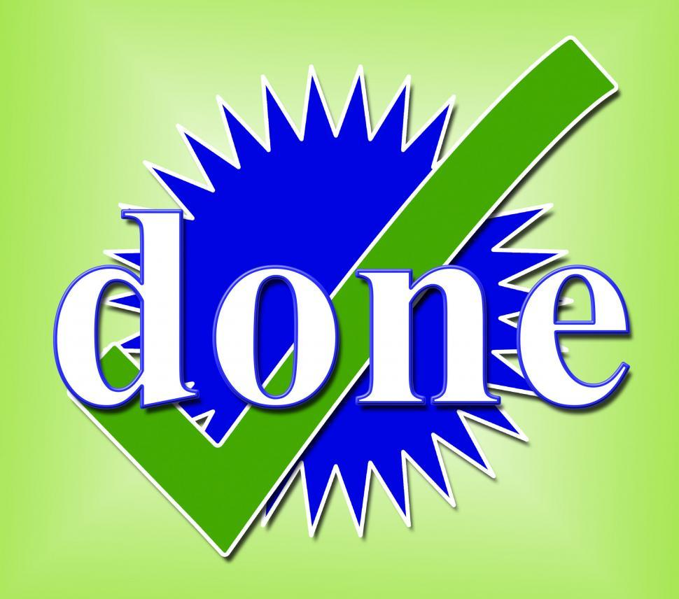 Download Free Stock HD Photo of Done Tick Means All Right And Ok Online