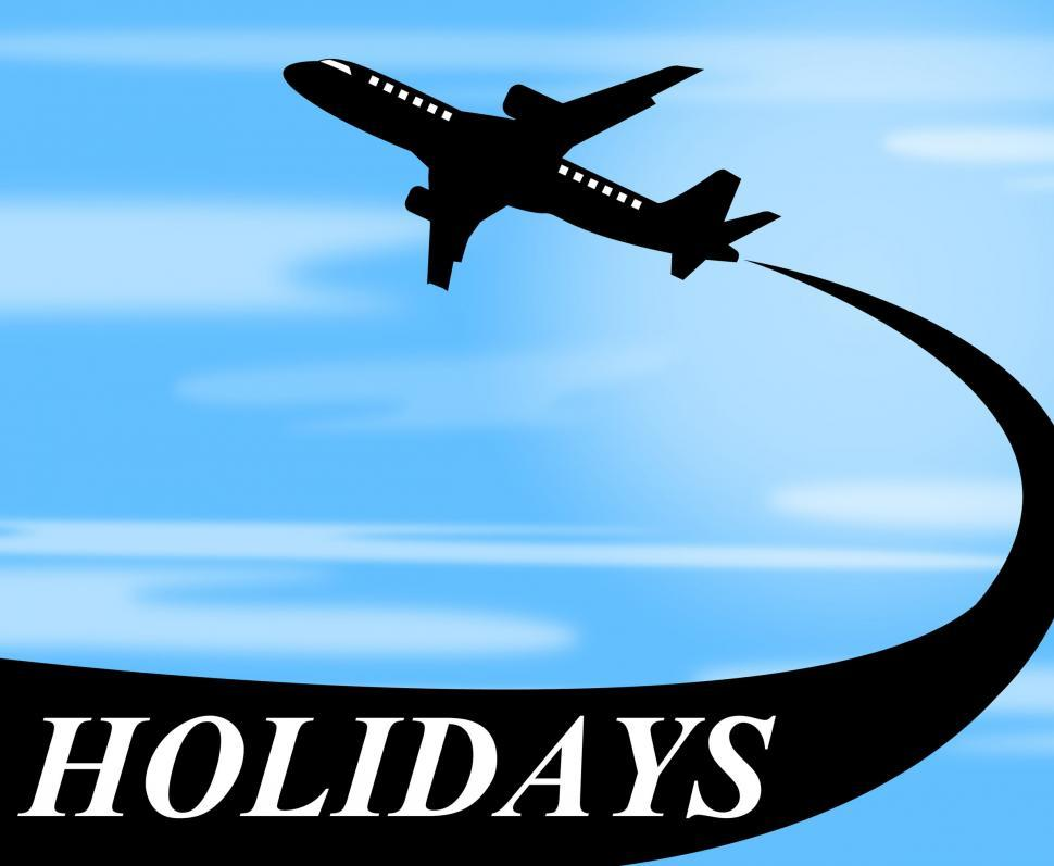 Download Free Stock HD Photo of Holidays Plane Represents Go On Leave And Air Online