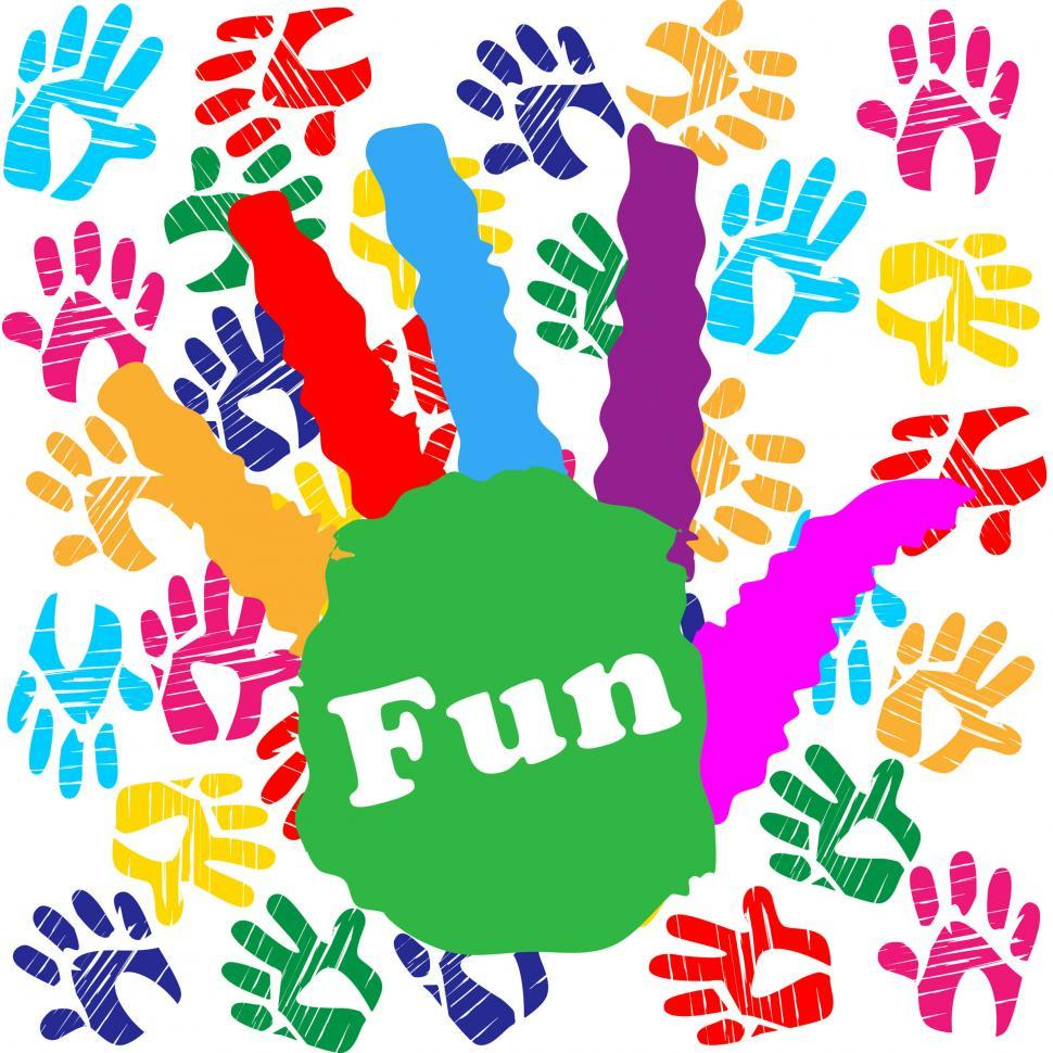 Download Free Stock HD Photo of Kids Fun Means Vibrant Handprints And Human Online