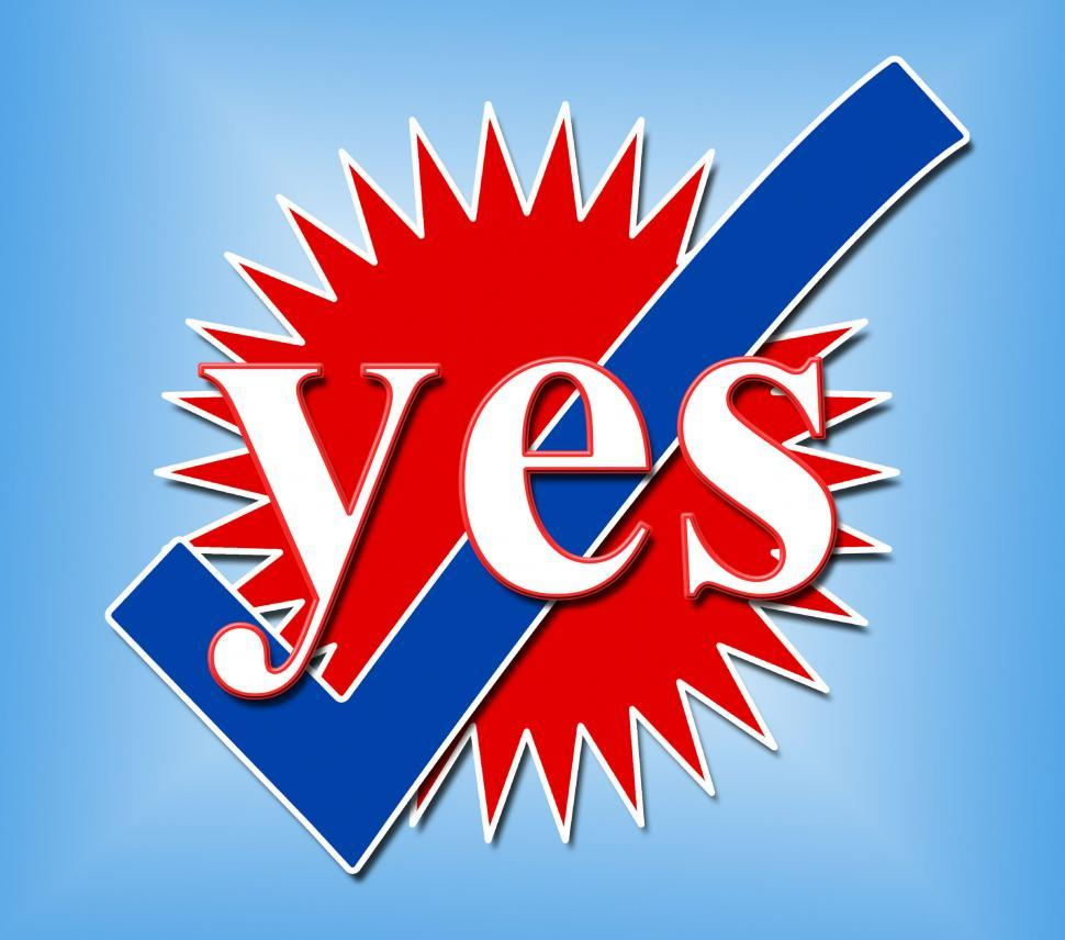 Download Free Stock HD Photo of Yes Tick Shows All Right And Affirm Online