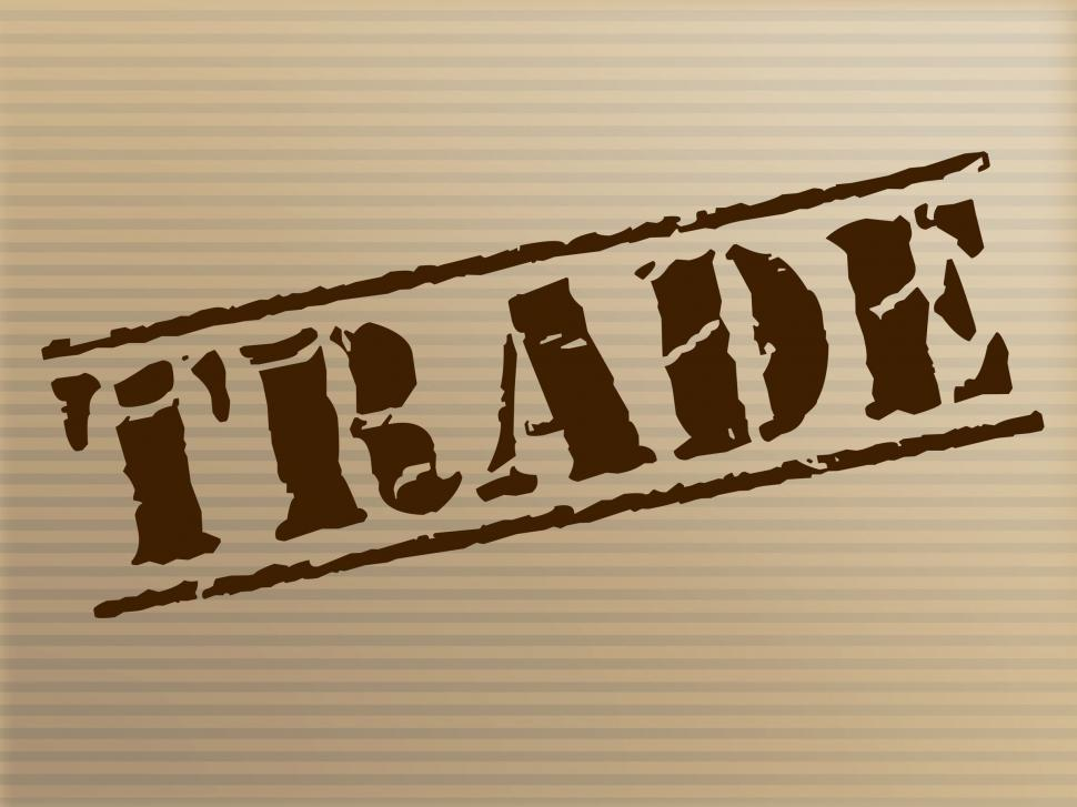 Download Free Stock HD Photo of Trade Stamp Represents Ecommerce Commerce And Buying Online