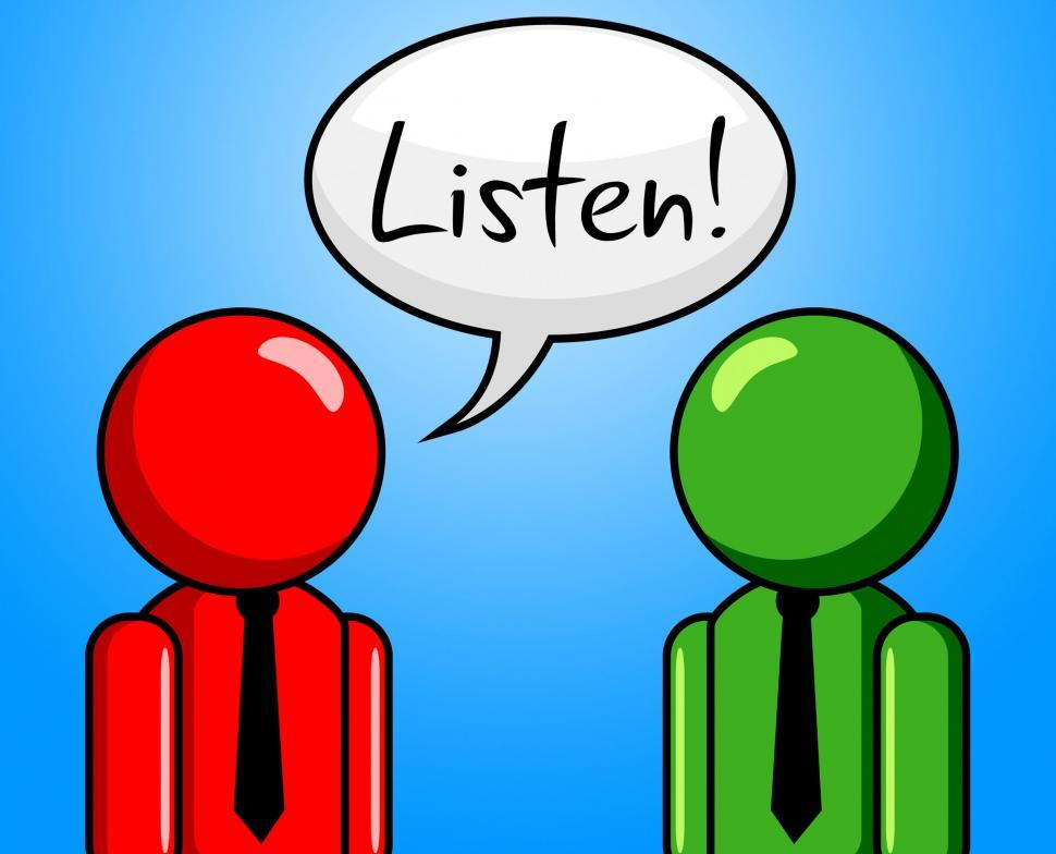 Download Free Stock HD Photo of Listen Conversation Indicates Chit Chat And Chinwag Online