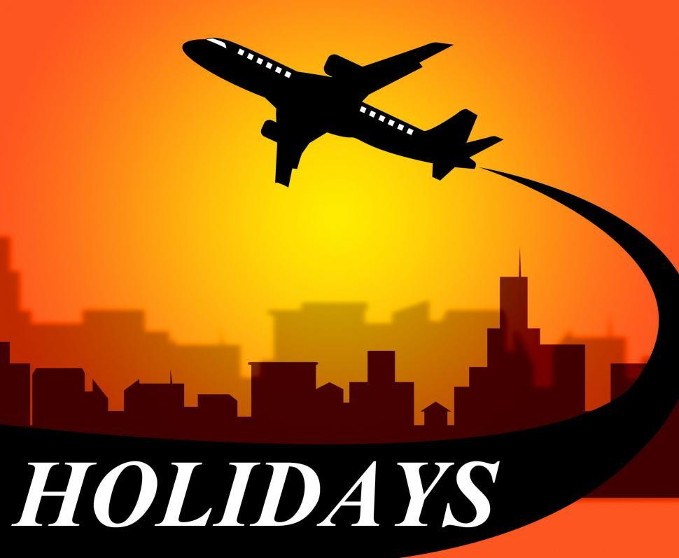 Download Free Stock HD Photo of Holidays Plane Shows Go On Leave And Air Online