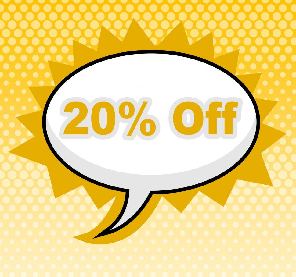 Download Free Stock HD Photo of Twenty Percent Off Represents Sign Retail And Promotional Online