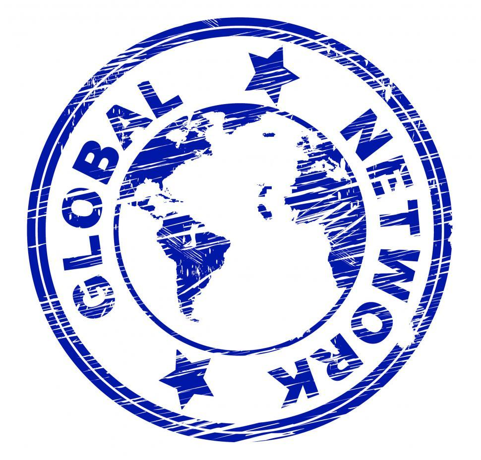 Download Free Stock HD Photo of Global Network Shows Social Media Marketing And Community Online