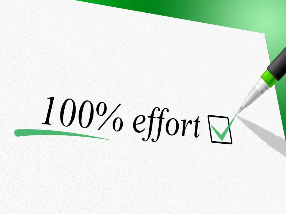 Download Free Stock HD Photo of Hundred Percent Effort Shows Hard Work And Completely Online