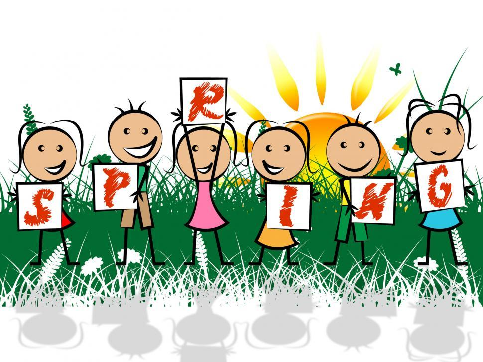 Download Free Stock HD Photo of Spring Kids Represents Springtime Youngsters And Children Online