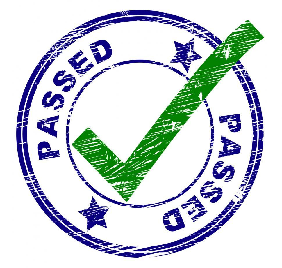 Download Free Stock HD Photo of Passed Stamp Indicates All Right And Ok Online