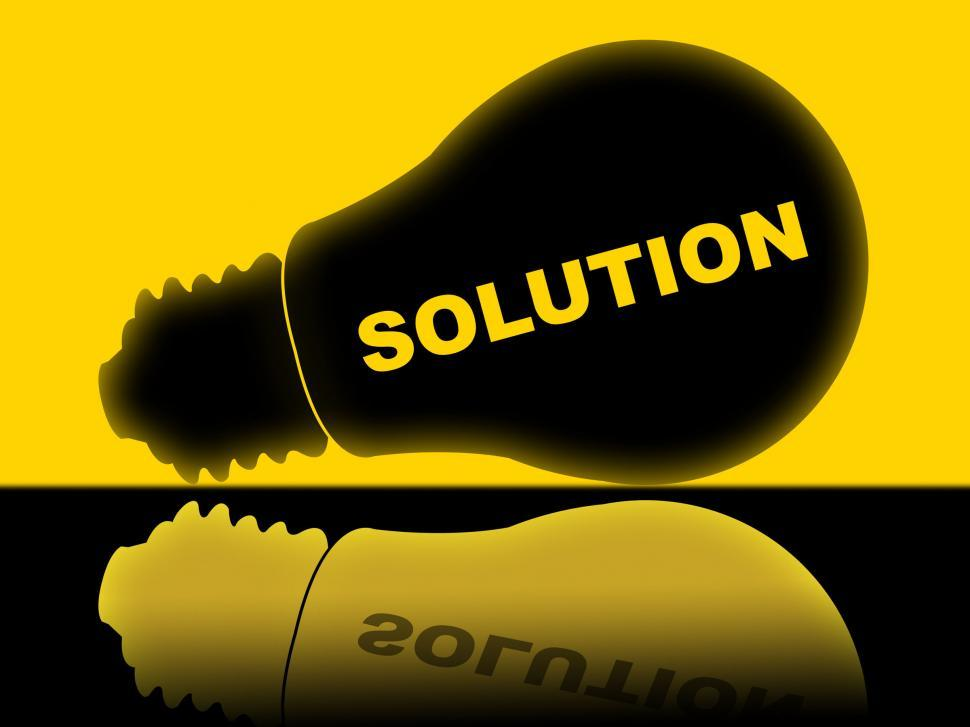 Download Free Stock HD Photo of Solution Lightbulb Represents Solutions Success And Solved Online