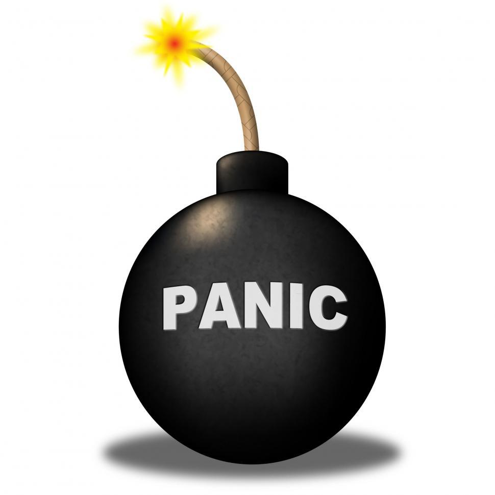 Download Free Stock HD Photo of Panic Warning Represents Hysteria Anxiety And Terror Online