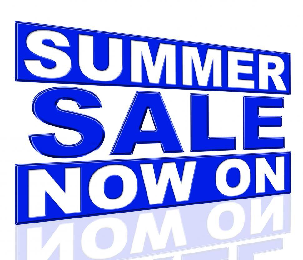 Download Free Stock HD Photo of Summer Sale Means At This Time And Clearance Online