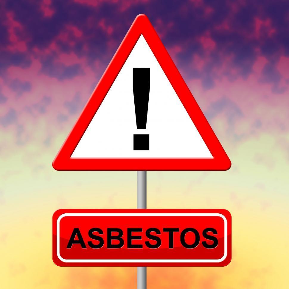 Download Free Stock HD Photo of Asbestos Alert Indicates Hazmat Warning And Danger Online
