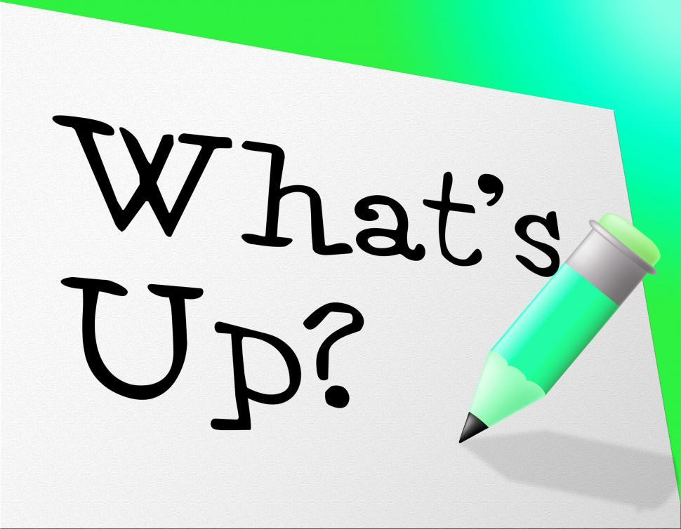 Download Free Stock HD Photo of Whats Up Indicates Stumbling Block And Difficulty Online