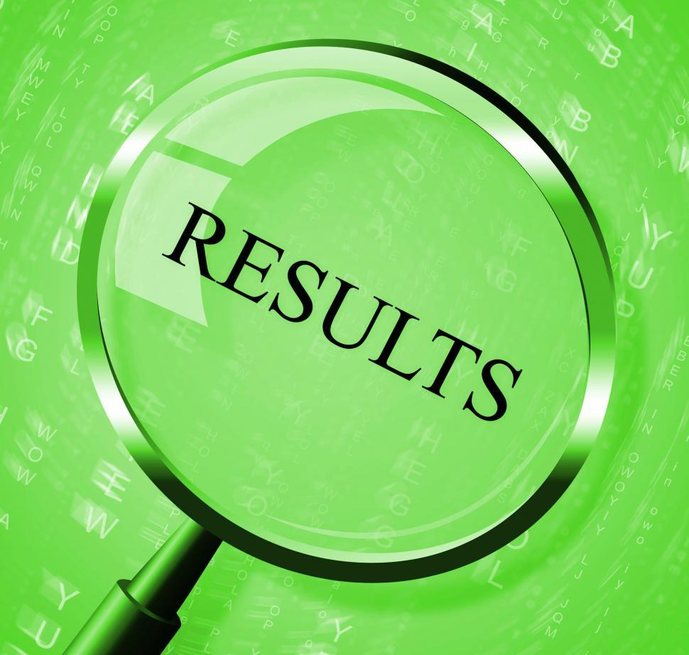 Download Free Stock HD Photo of Results Magnifier Means Success Magnifying And Score Online