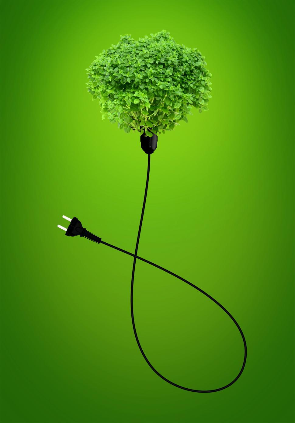 Download Free Stock HD Photo of Clean Energy Concept - A Green Power Plug Online