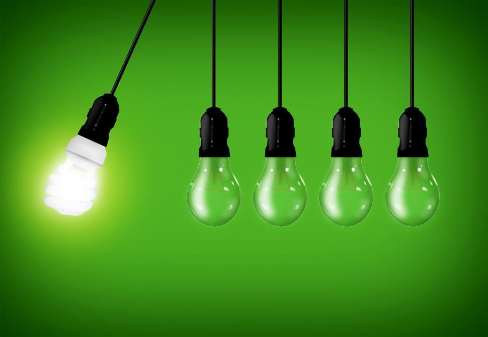 Download Free Stock HD Photo of Eco Concept - Energy Saver Lightbulb Among Common Lightbulbs Online