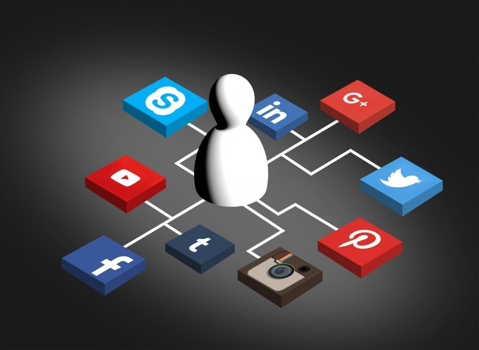 Download Free Stock HD Photo of Being Social - Person Sharing in the Social Media Networks Online