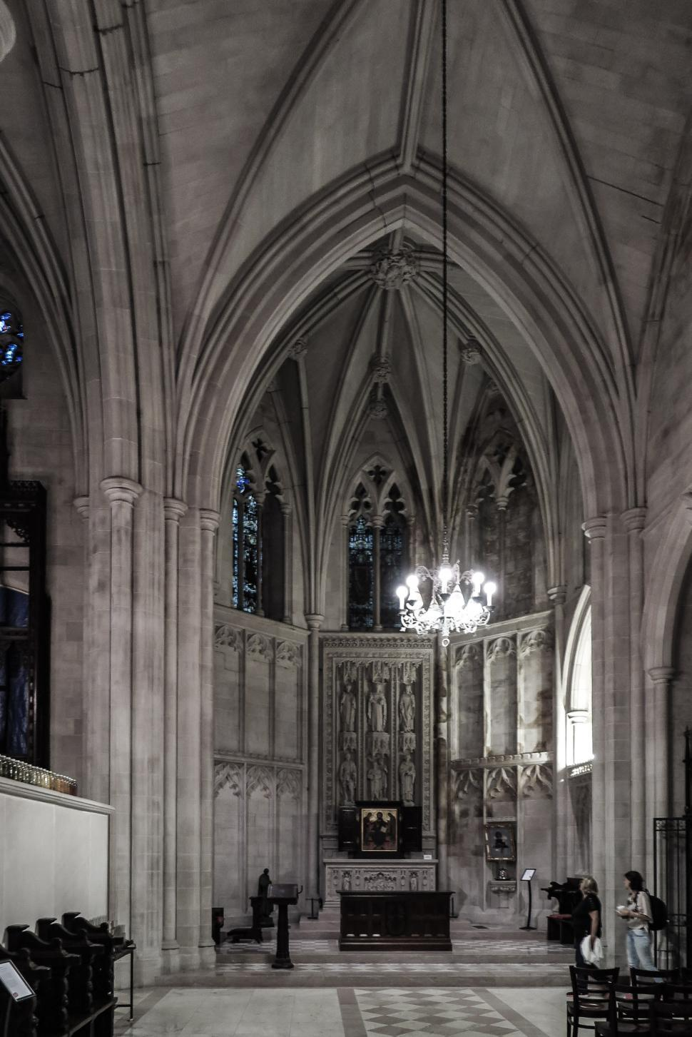 Download Free Stock HD Photo of Gothic cathedral interior Online