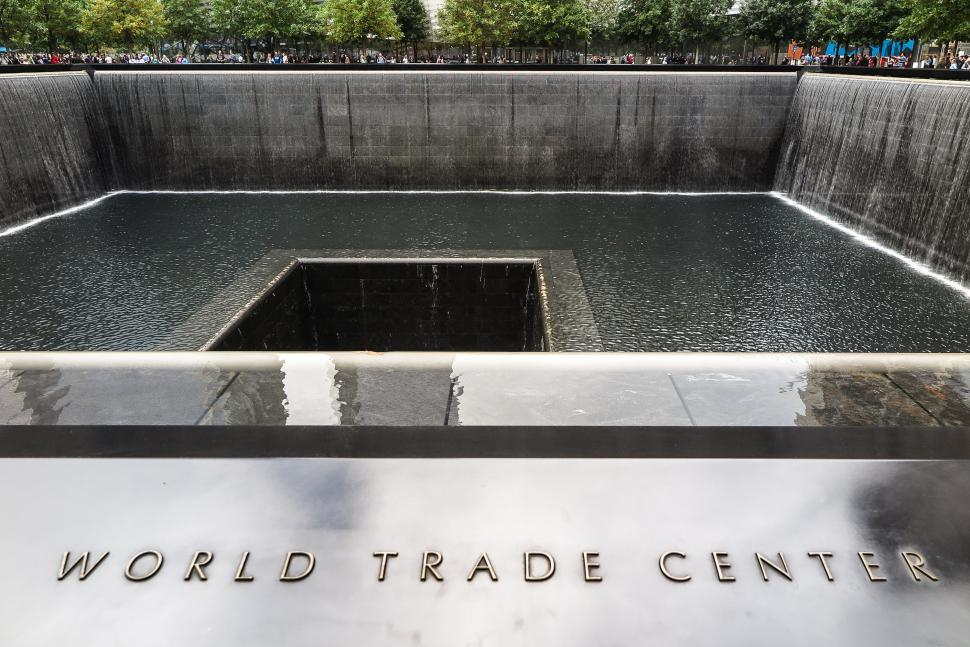 Download Free Stock HD Photo of Twin Tower Reflecting Pool Memorial Online