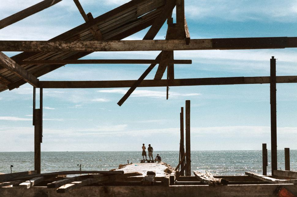 Download Free Stock HD Photo of People on a dock Online