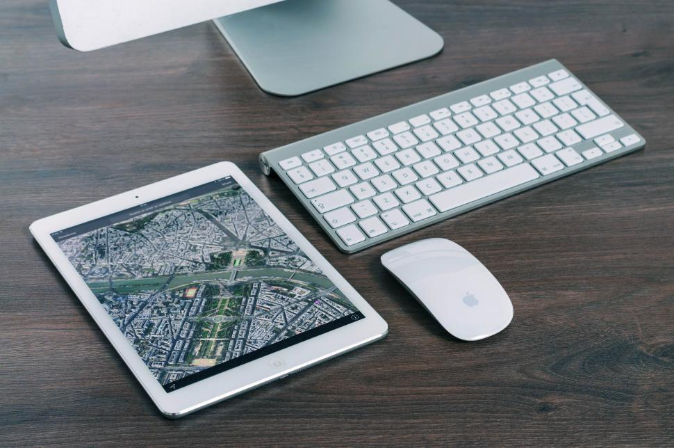 Download Free Stock HD Photo of Keyboard, mouse and tablet Online