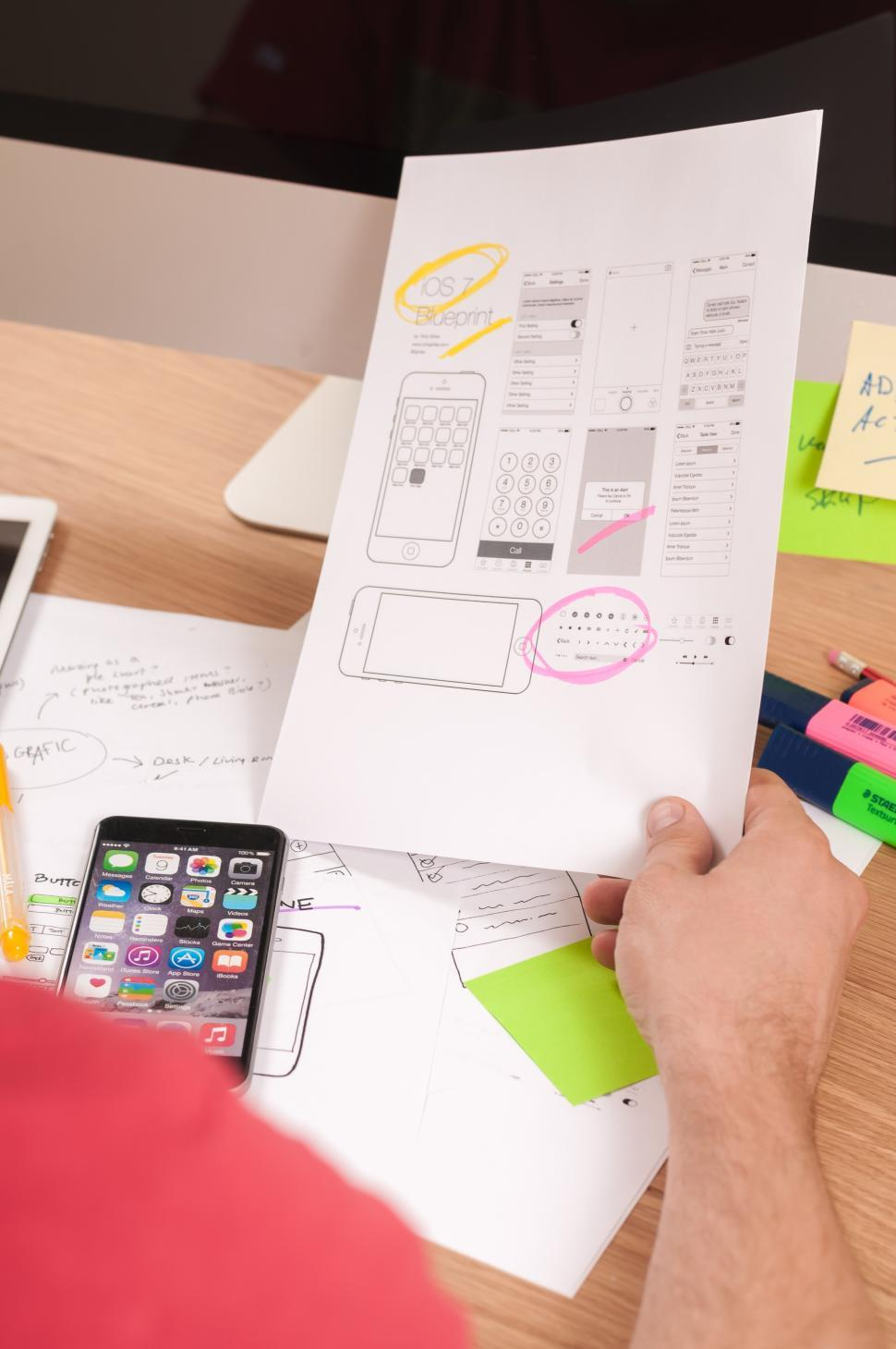 Download Free Stock HD Photo of UI design documents Online
