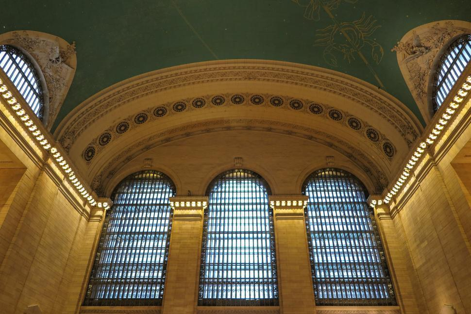 Download Free Stock HD Photo of Ceiling of Grand Central Station Online