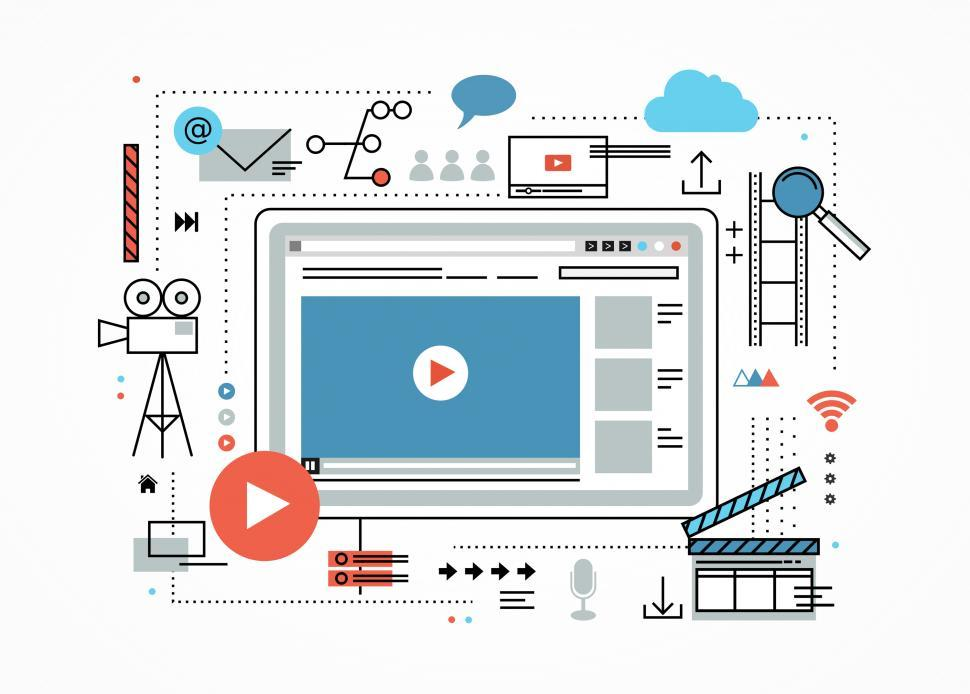 Download Free Stock HD Photo of Video Marketing Concept - Viral Videos on Youtube Online