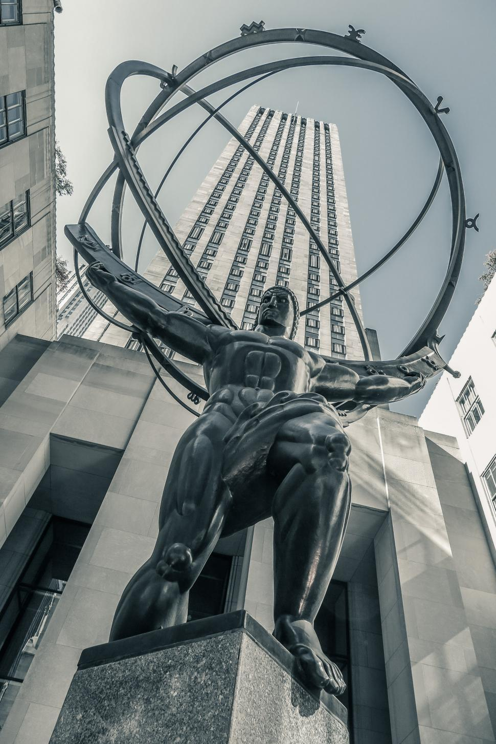 Download Free Stock HD Photo of Statue of Atlas at Rockefeller Center Online