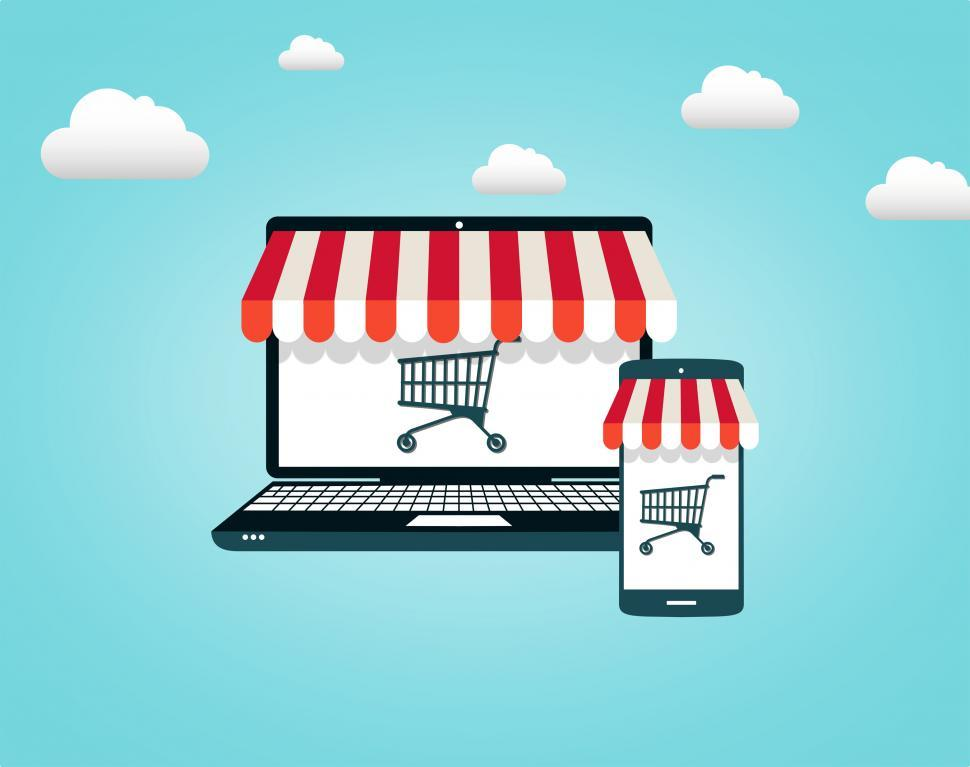 Download Free Stock HD Photo of Online Shopping - Shopping Cart on Screen Online