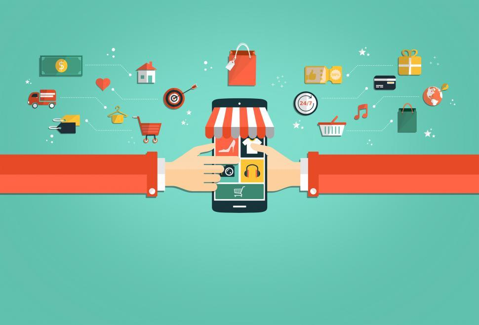 Download Free Stock HD Photo of Online Shopping Concept - Shopping with Smartphone Online
