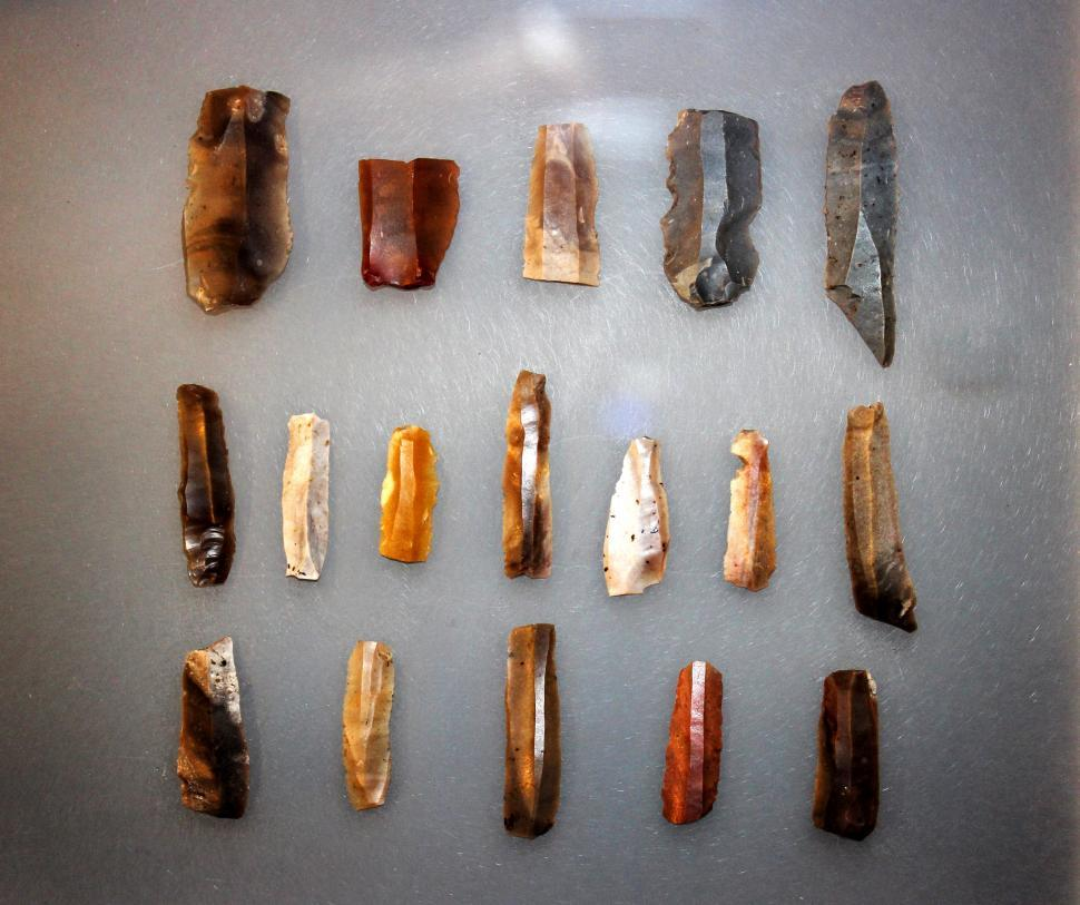 Download Free Stock HD Photo of Primitive Tools - Neolithic Flint Blades Online