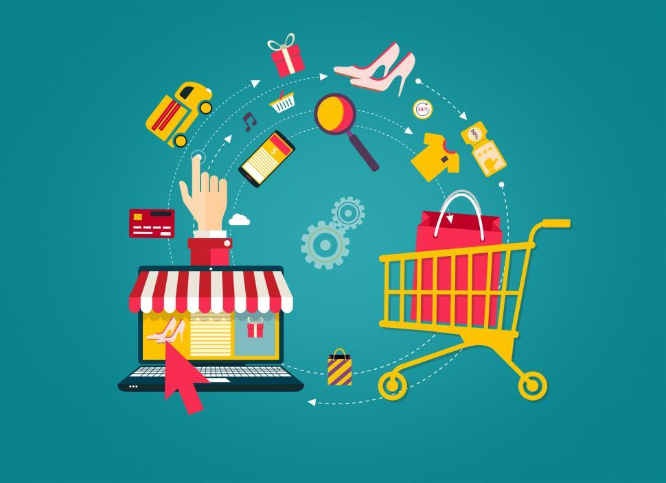 Download Free Stock HD Photo of Online Shopping - Laptop to Shopping Cart Online