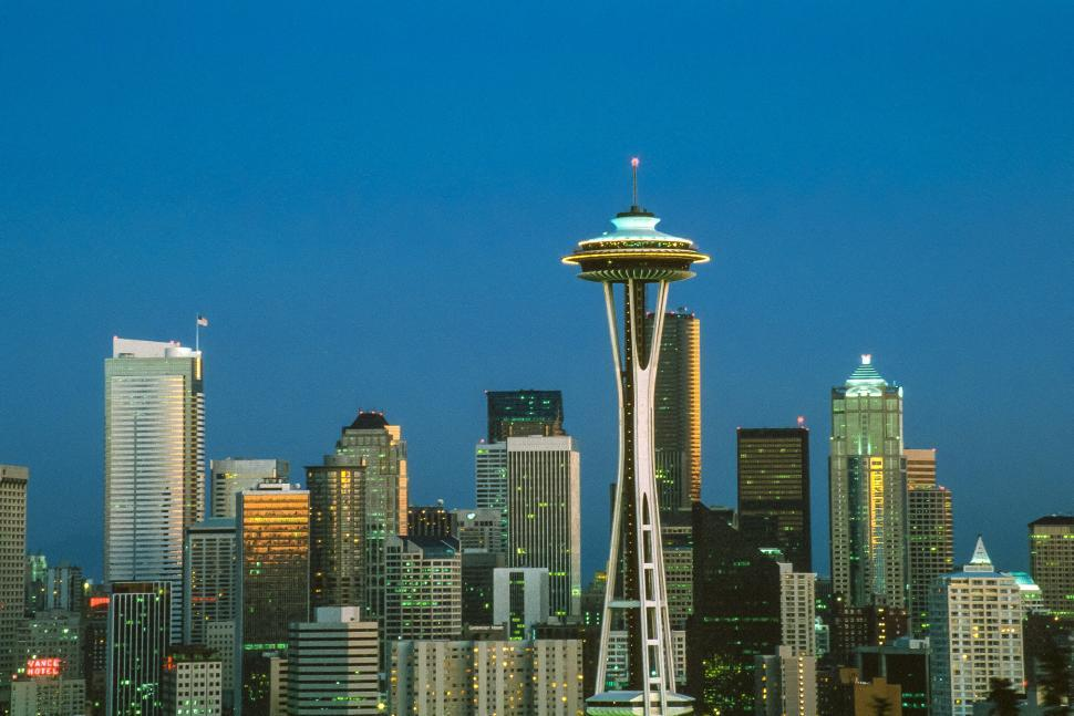 Download Free Stock HD Photo of Skylines of Seattle City in Washington Online