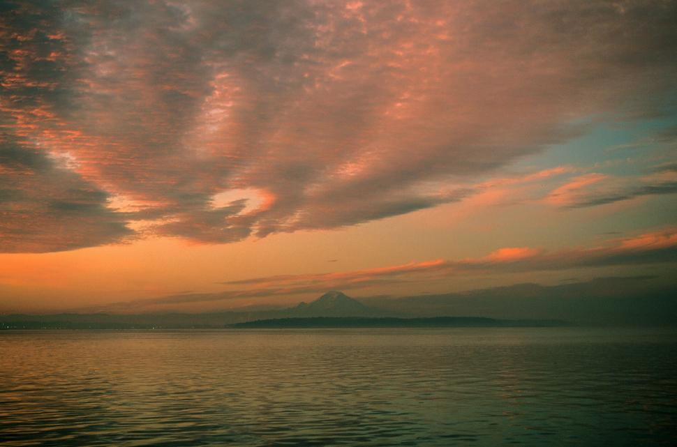 Download Free Stock HD Photo of Dawn over Puget Sound Online