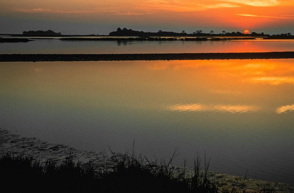 Download Free Stock HD Photo of Sunrise over marshes Online