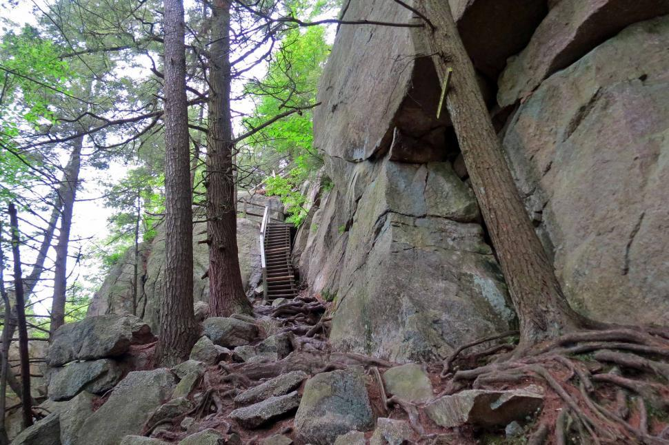 Download Free Stock HD Photo of Mohonk Mountain House Rock Scramble Online