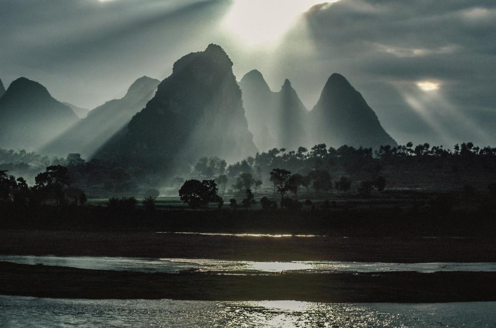 Download Free Stock HD Photo of Dawn over Guilin Online