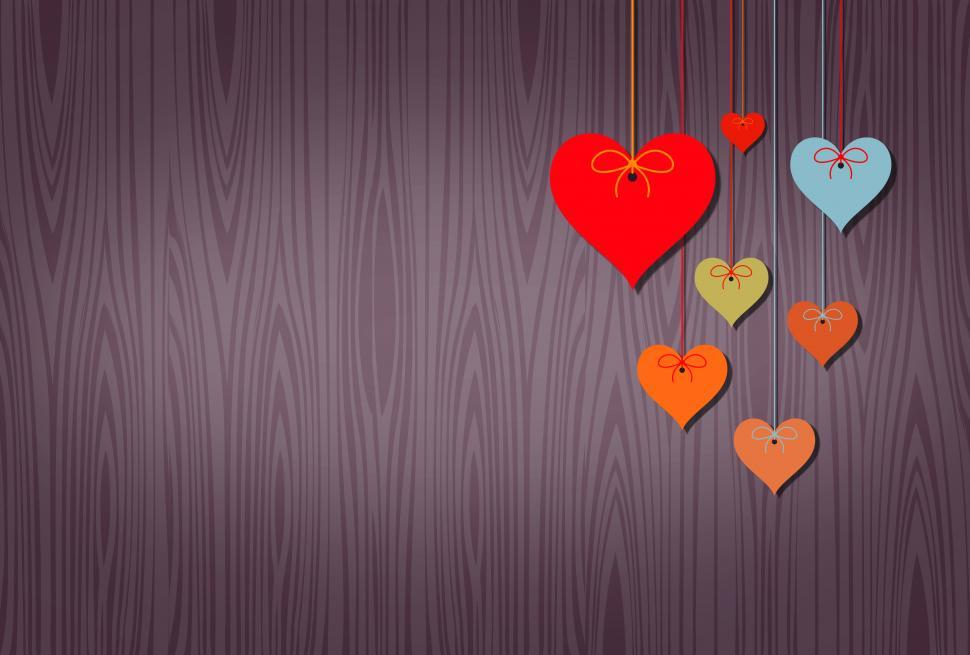 Download Free Stock HD Photo of Hearts Background with Copyspace Online