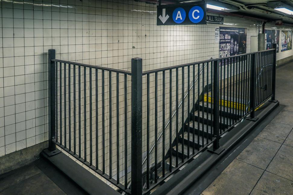 Download Free Stock HD Photo of Subway entrance stairs Online