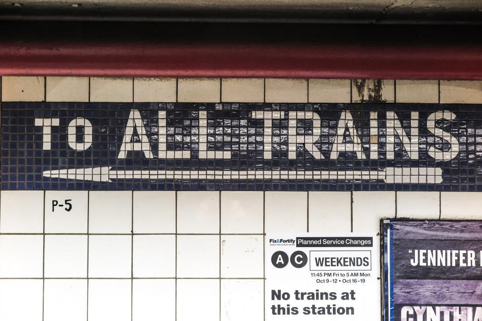 Download Free Stock HD Photo of To All Trains sign Online