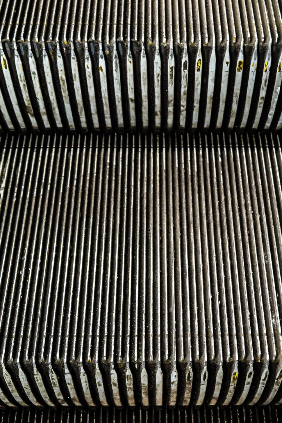Download Free Stock HD Photo of Escalator steps detail Online