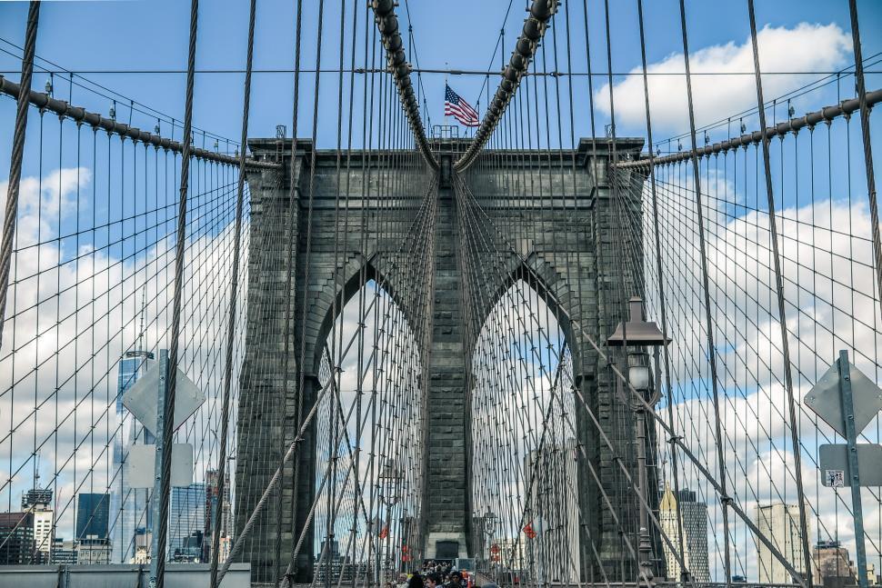 Download Free Stock HD Photo of Historic Brooklyn Bridge Online