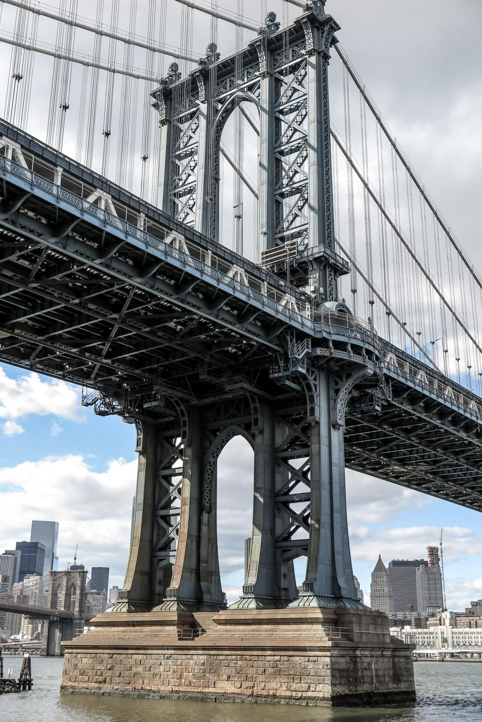 Download Free Stock HD Photo of Angle of Manhattan Bridge Online