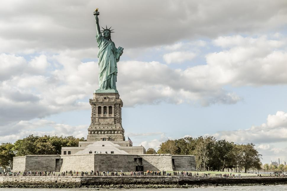 Download Free Stock HD Photo of Statue of LIberty on Liberty Island Online
