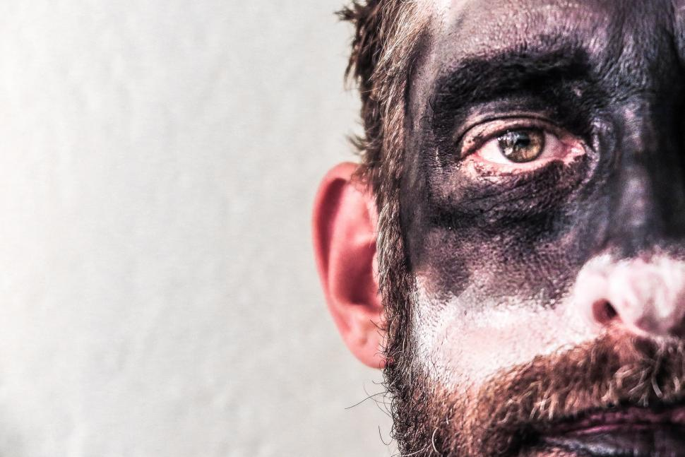 Download Free Stock HD Photo of Man in dark makeup Online